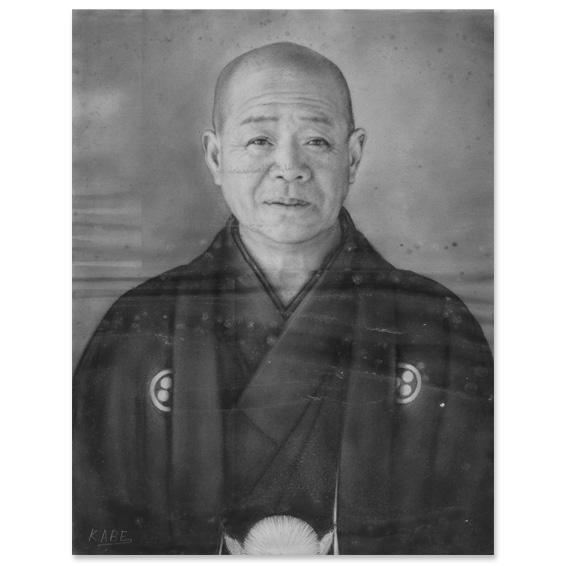 震災により水没してしまった肖像画(デジタルデータ 4134×5315pixel)