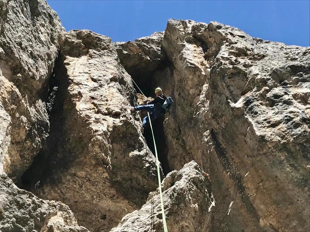 Klettern Santnerspitze - Dolomiten