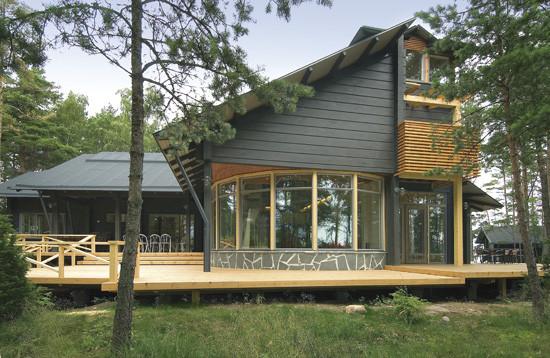 Maison bois comtemporaine