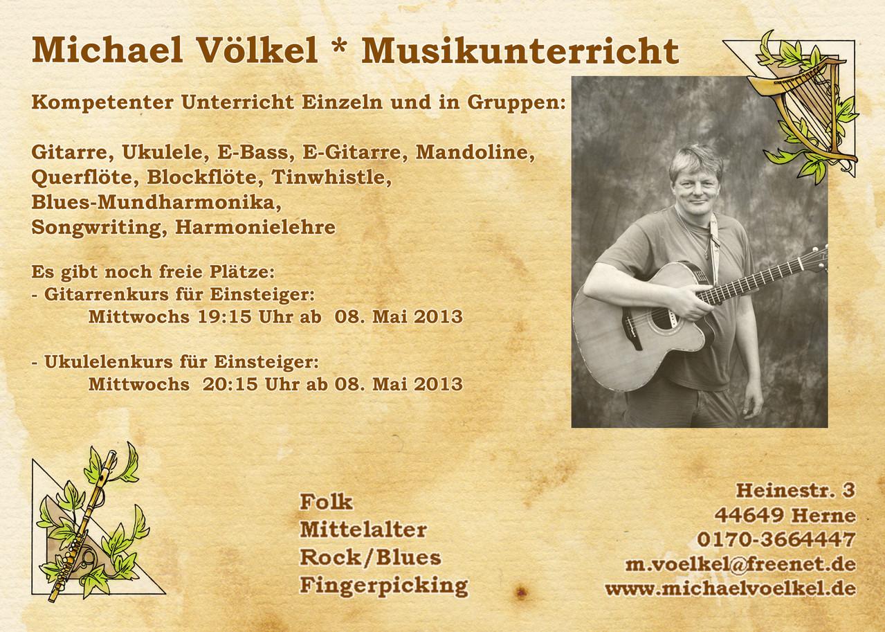 Ukulelenkurs - Michael Völkel - Musiker und Entertainer