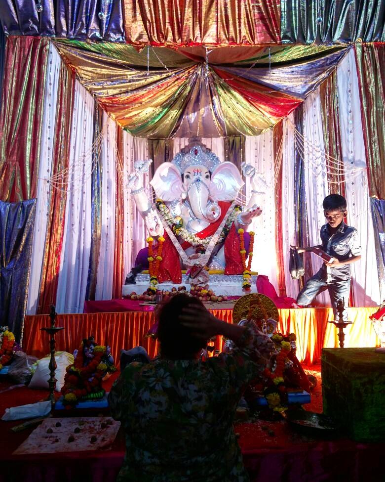 Ganpati Chaturthi, eines der zahlreichen Hindu-Festival-Palette