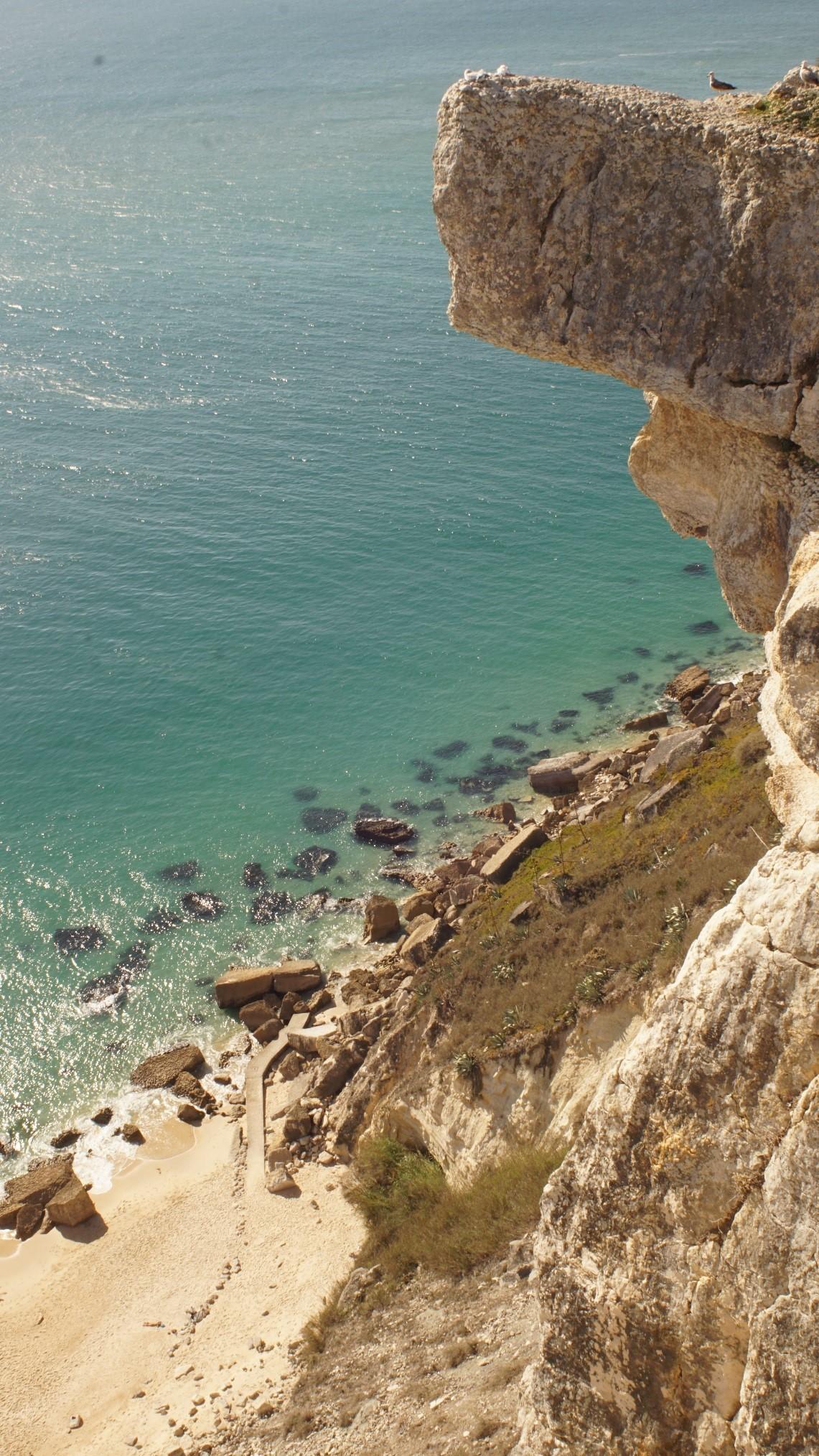 Tag 5: Nach dem Wochenende in den Familien besuchten wir verschiedene Strandorte an der Atlantikküste (hier: Nazaré)