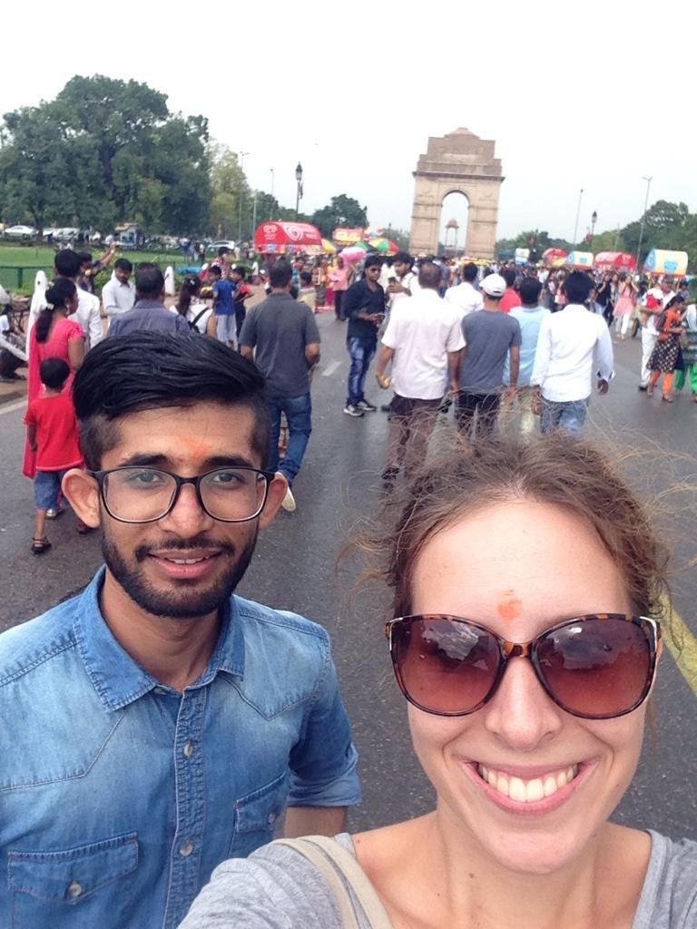 Selfie vorm India Gate