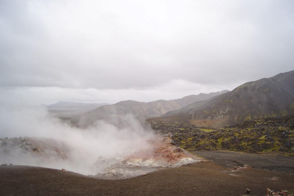 Heiße Quellen bei Landmannalaugar – in einer von ihnen konnte man sogar baden.