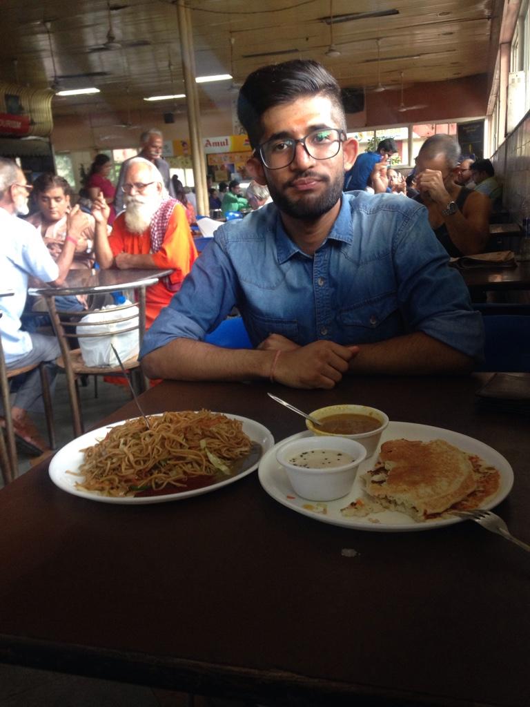 Siddarth hat super Essen bestellt :-)