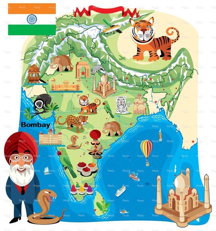 Indienkarte