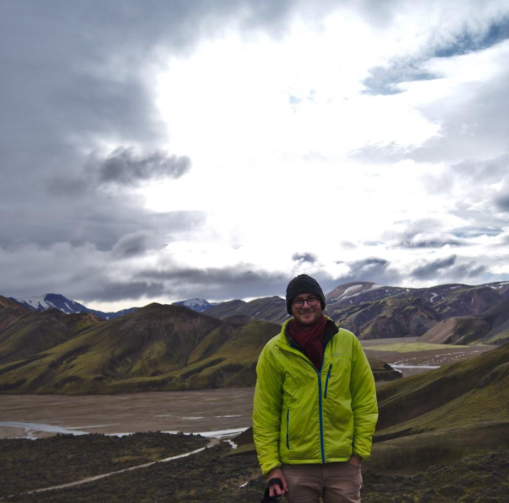 Auf einem Wochenendausflaug in Landmannalaugar, wo wir bei 2°C im Zelt übernachtet haben - die Landschaft war es aber definitiv wert.