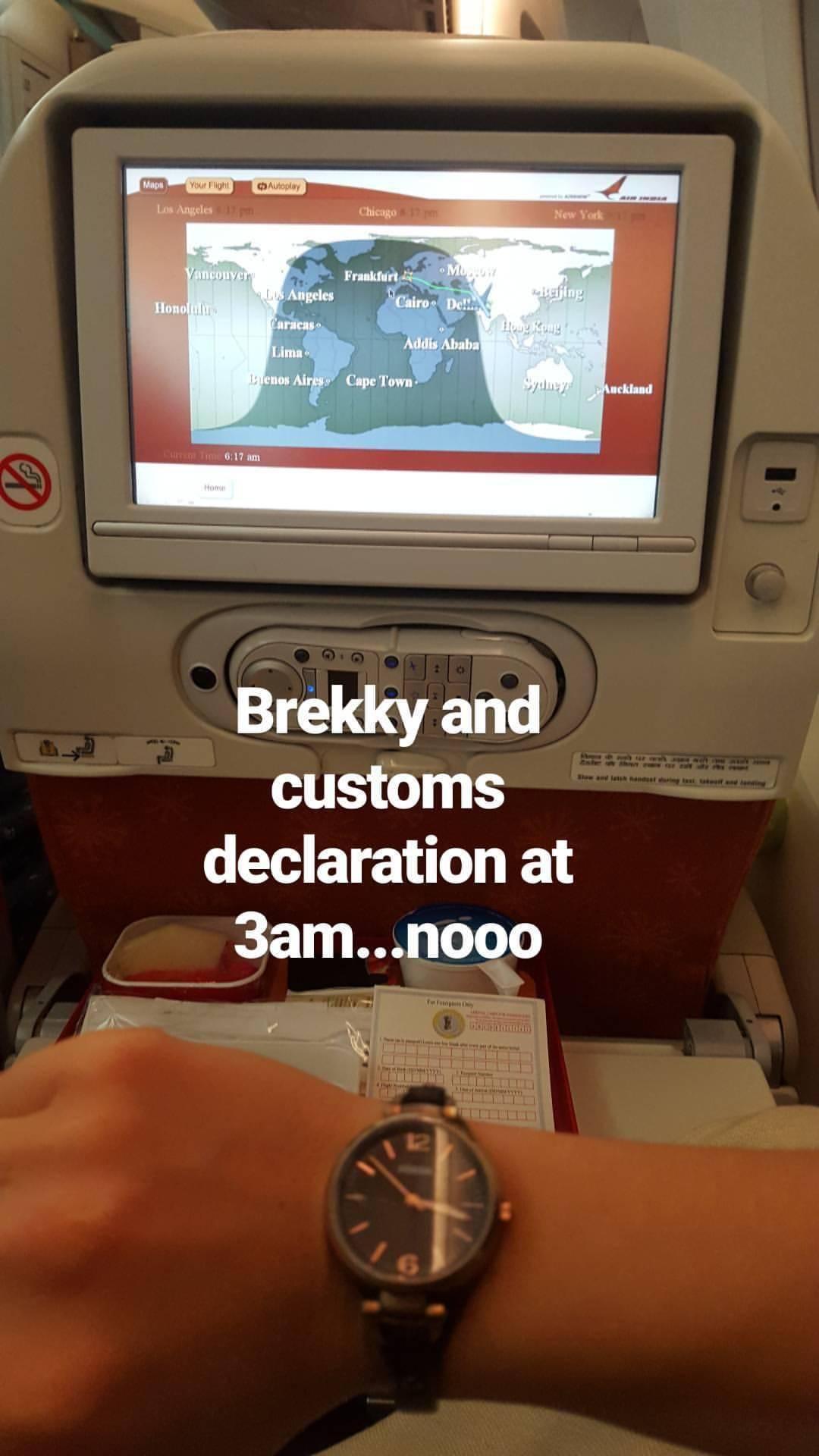 Spontane Frustration nach 6 h Flug