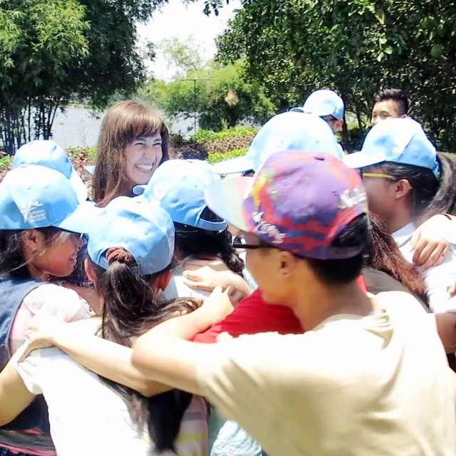 Group-Hug mit den Campteilnehmern. Ich werde sie vermissen.