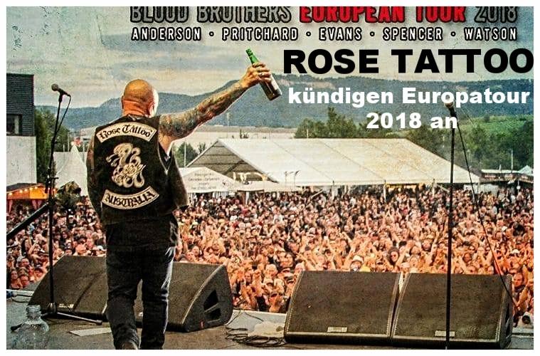 ROSE TATTOO - kündigen Europatour 2018 an - SWISS ATTACK