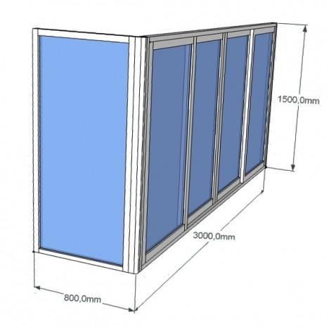 Алюминиевые балконы - пластиковые окна в воткинске.