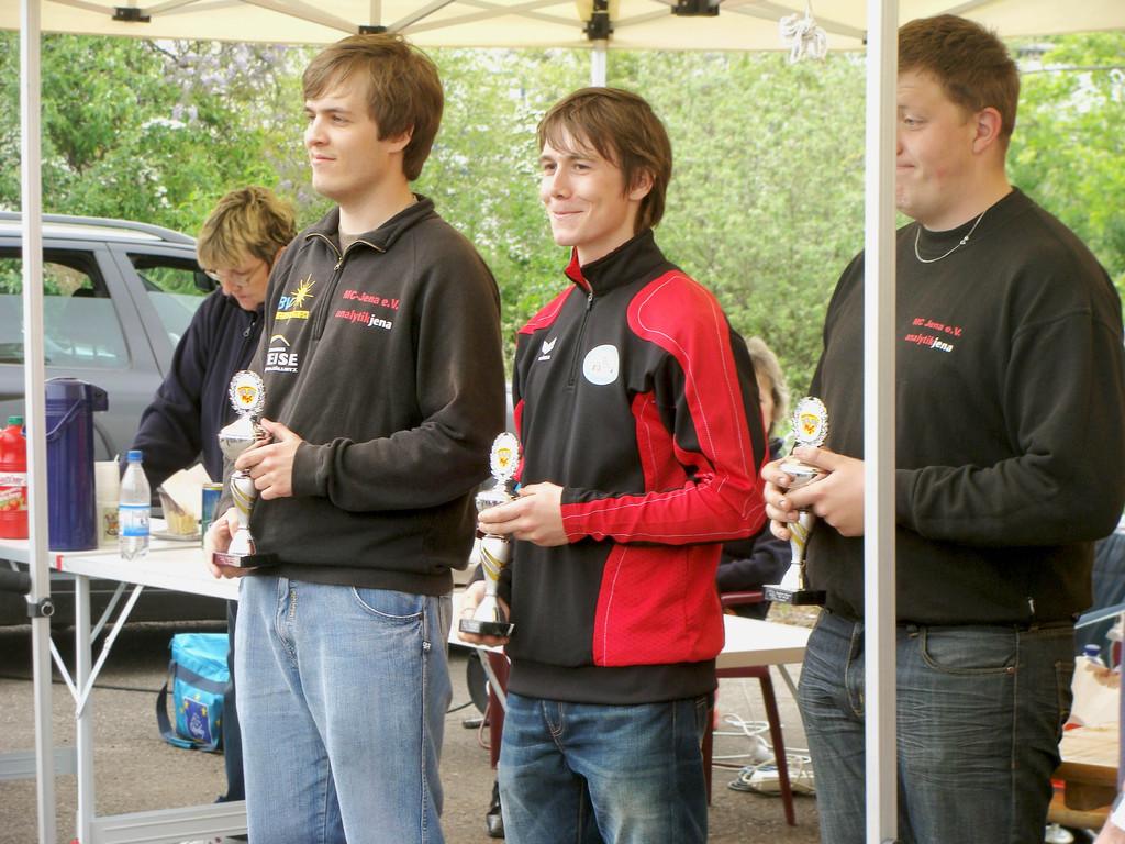Andreas auf Platz 2 (Mitte).