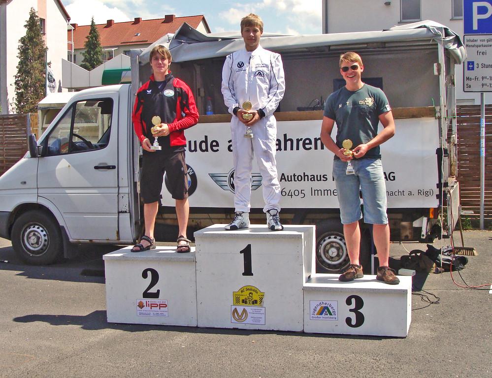 Andreas auf Platz 2 (Rennen 1 + 2)