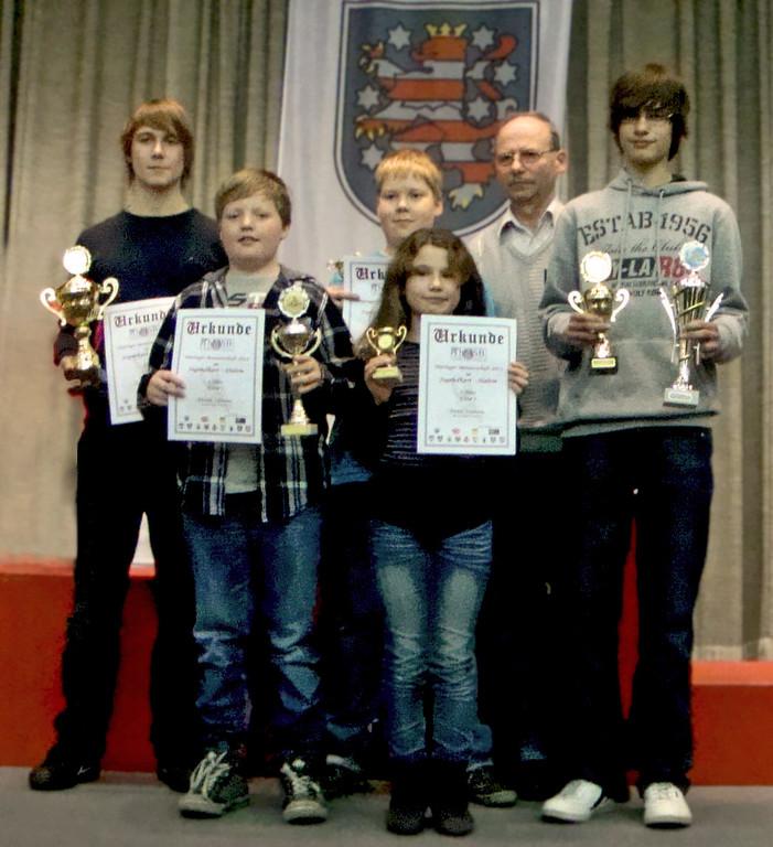 Unsere Mannschaft: Oliver Vogel, Volker Neumann (Trainer), Denise Neumann, Marcel Böhland, Florian Zölsmann, Andreas Prautsch