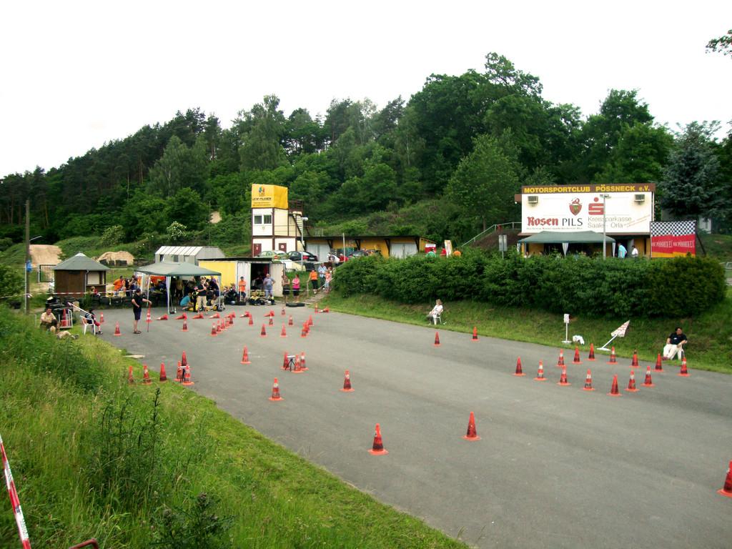 Die Strecke in Pößneck