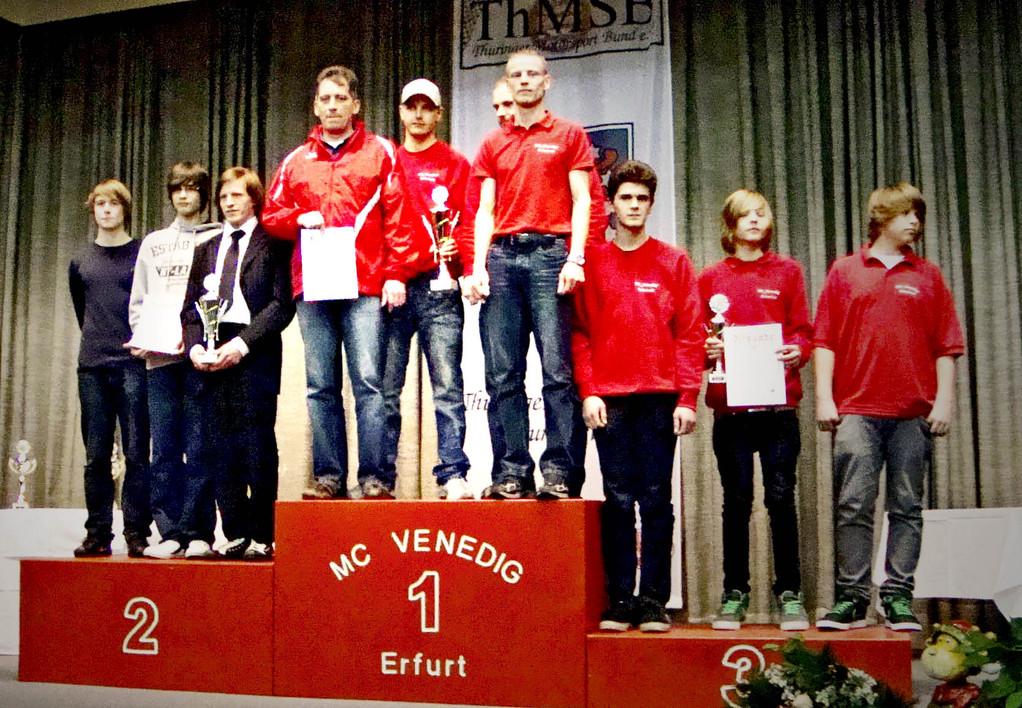 Mannschaftswertung, der MC Altenburg wurde 2. Platz