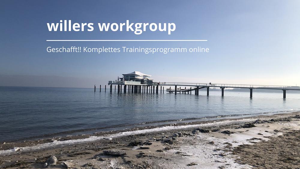 Geschafft! Komplettes Trainingsprogramm ist online