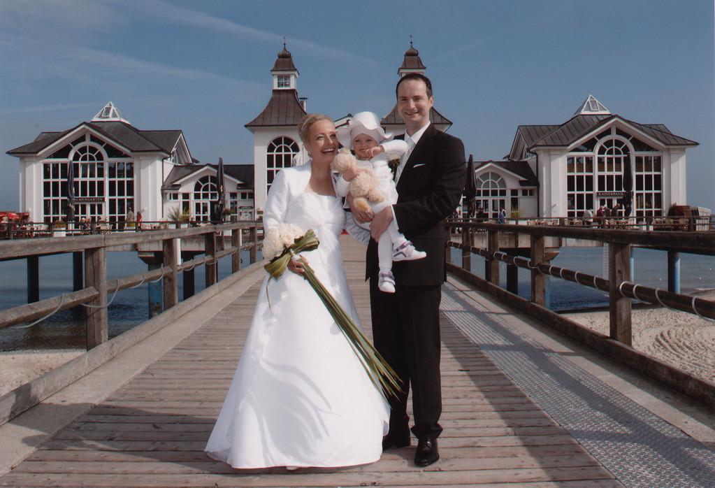 Hochzeit auf der Seebrücke in Sellin