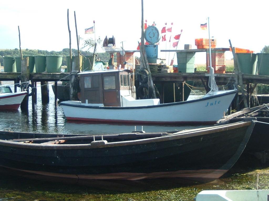 Hafen von Gager mit Traditionsfischerei