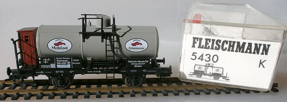 Fleischmann Mobiloel Kesselwagen H0 5430 mit Verpackung