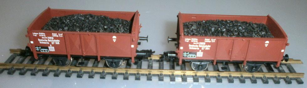Fleischmann 521103 H0 Kohlewagenset 2 Stk.