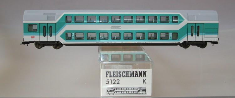 Fleischmann Doppelstockwagen 5122 Spur H0 mit Verpackung