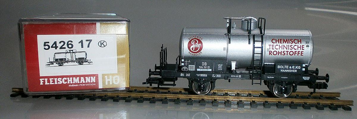 Fleischmann H0 542617 Kesselwaggon Bolte & Co. Verpackung