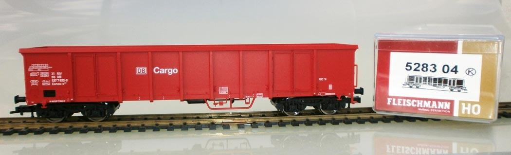 Fleischmann H0 528304 Hochbordwagen, rot, DB Cargo, Verpackung