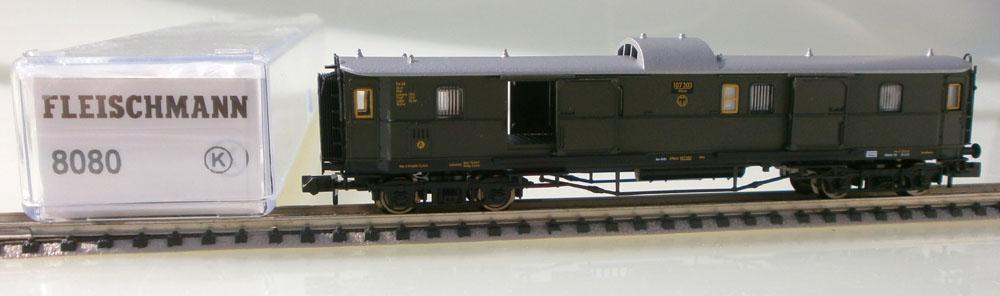 Fleischmann N 8080 Schnellzug Gepäckwagen Verpackung