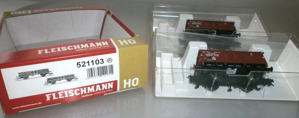Fleischmann 521103 H0 Kohlewagenset Verpackung