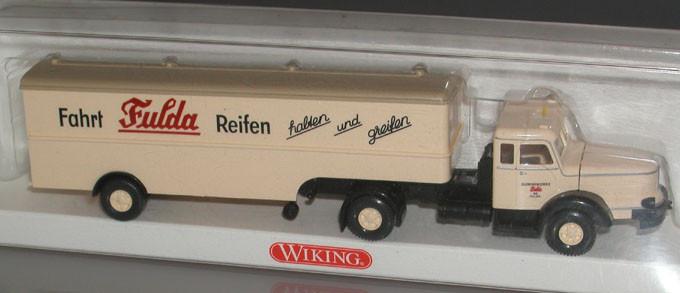 Wiking H0 8913837 Koffer-Sattelzug Krupp Titan Fulda Reifen Verpackung