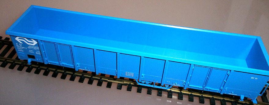 Fleischmann 528311 H0 Hochbordwagen der NS, blau, Seite rechts