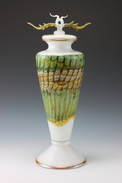 White Opal Covered Vessel
