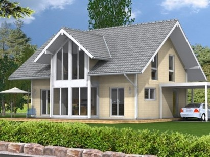 Flat pack home design with 4 bedrooms from Stommel Haus