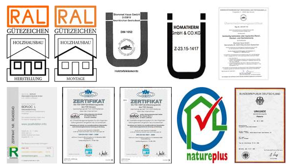Quality certifications of Stommel Haus