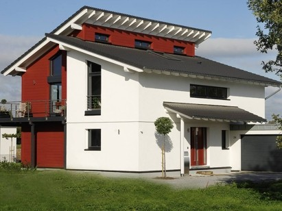 Contemporary, luxurious prefabricated German kit house with 3 bedrooms