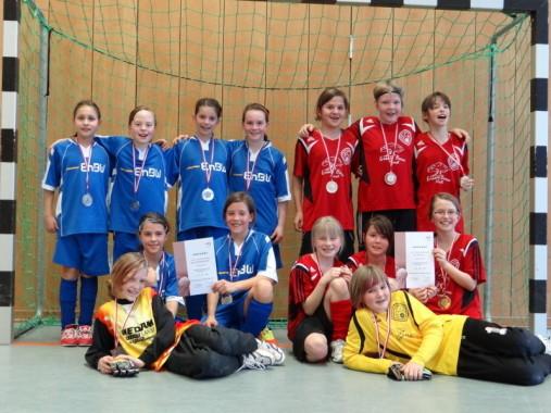 Die Mädchen des SV Spaichingen und des FC Hardt I