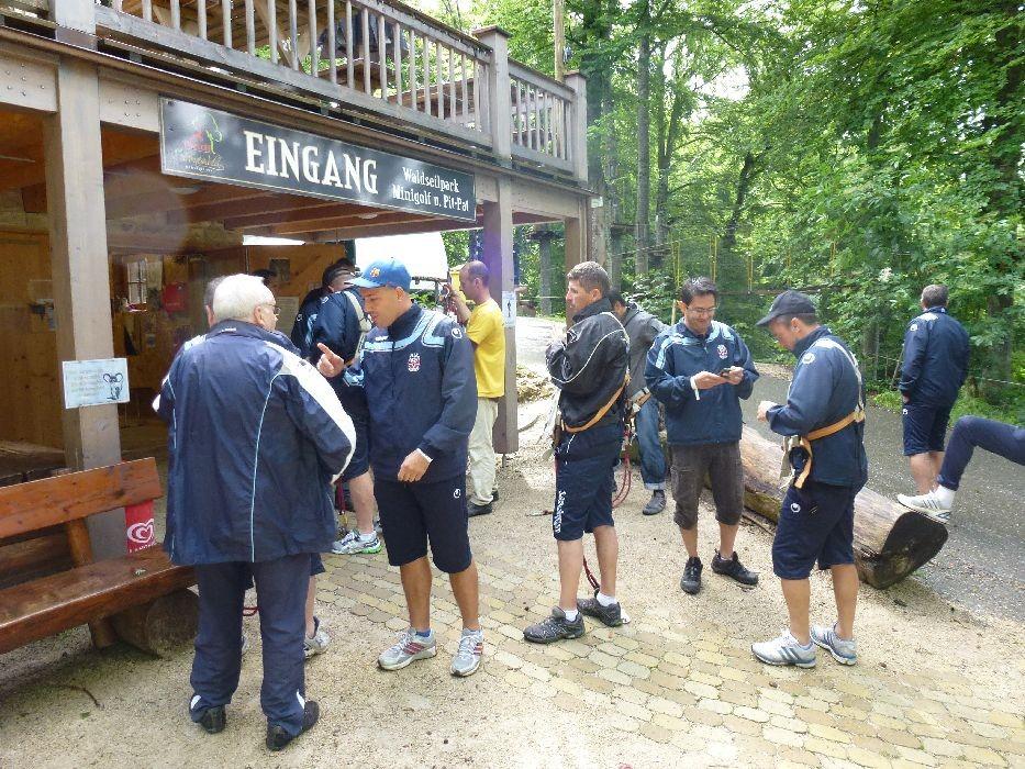 Besuch des Klettergartens in Mahlstetten.