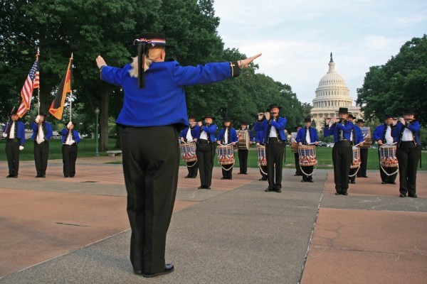 The Fife & Drum Corps performed at Capitol Hill to honor their friends from MTK.