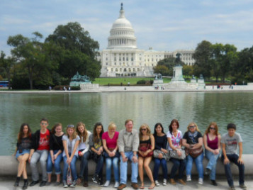 "A visit to Capitol Hill is a ""must"" during SPEP-visits to Loudoun County. Photo: Geoirge C. Marshall Int'l Center"