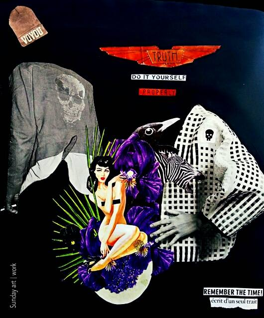 Sunday art work ©     !COPYRIGHTS! Paper collage handmade / No photoshop !