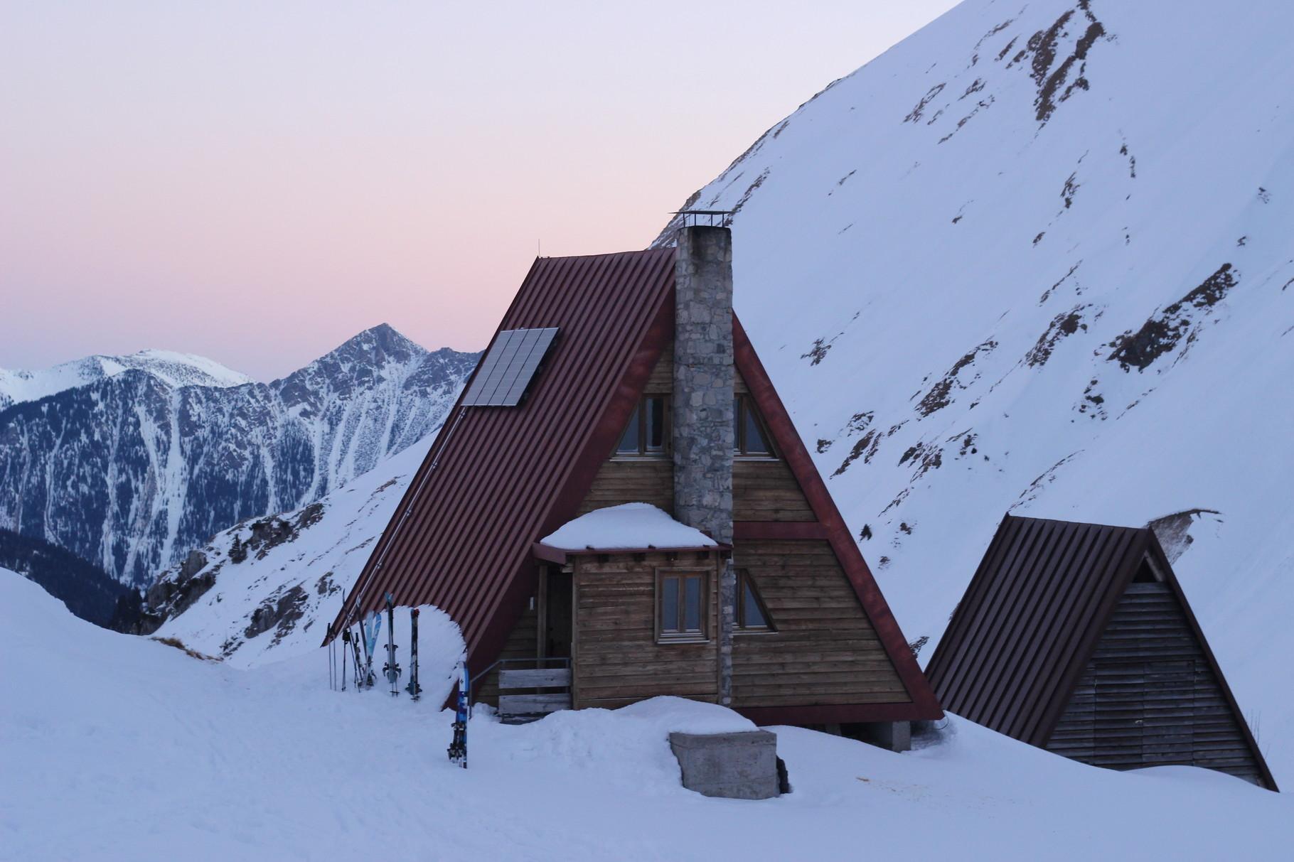 Morgenstimmung Winterraum Prinz-Luitpold Haus