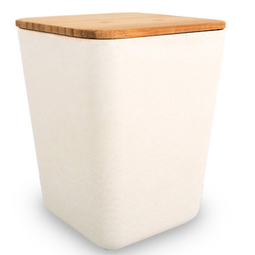 *Neu* Bambus Vorratsdose Quadrat, Designbeispiel Rayher