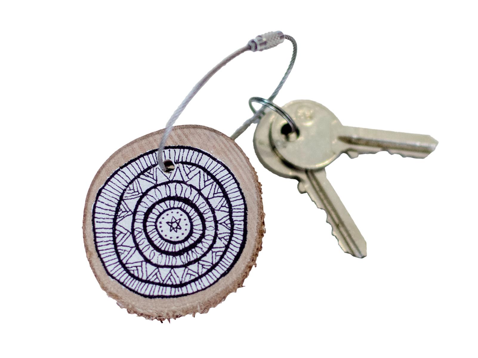 Schlüsselanhänger Birkenscheibe Beispiel Internet