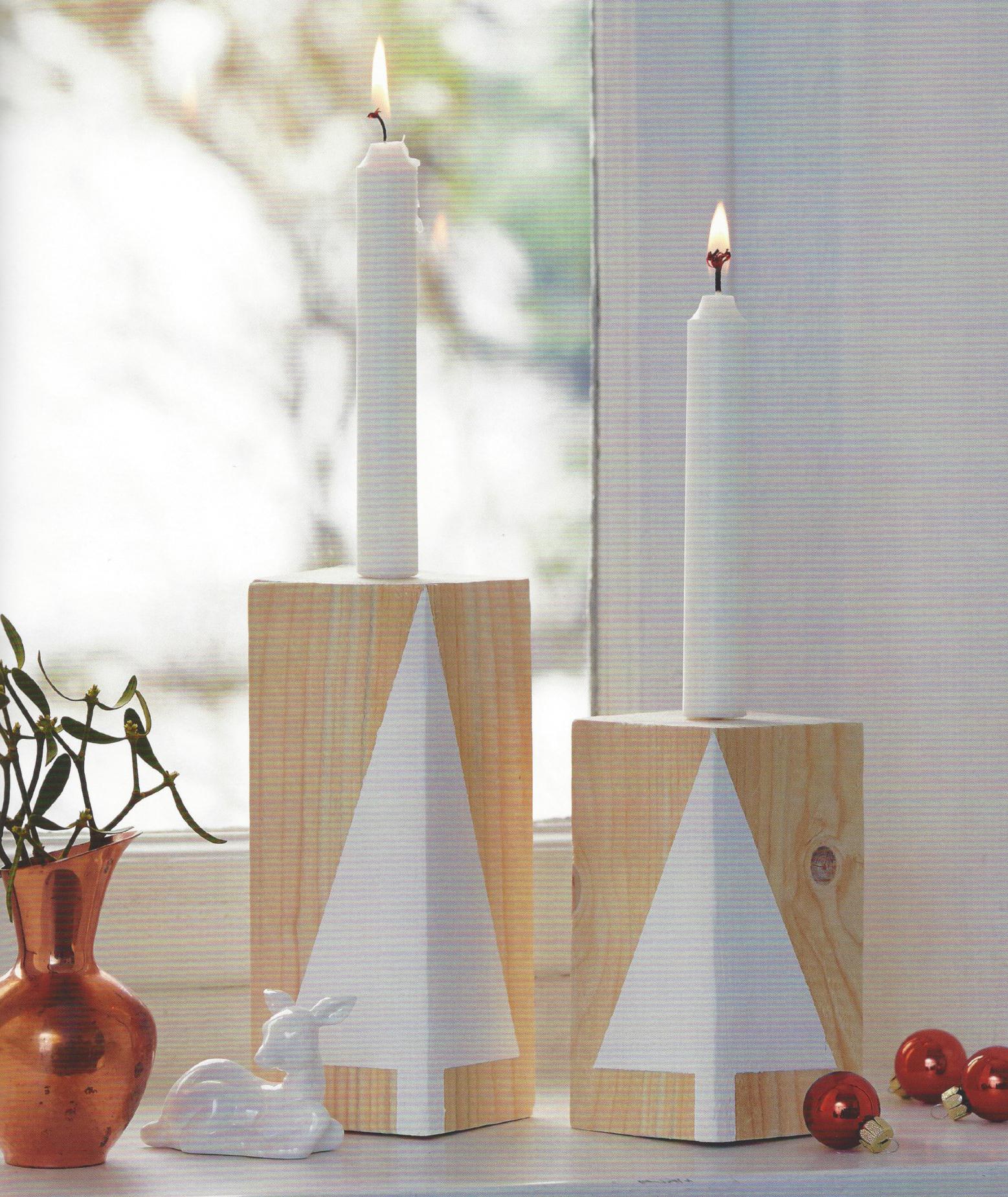 Holz-Kerze Beispiels-Bild Buch Topp-Verlag