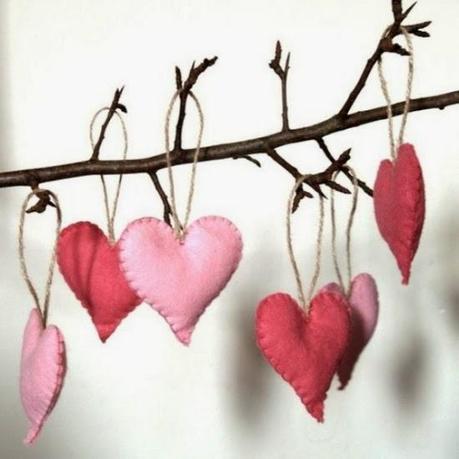 Filz-Herzen genäht Beispiels-Bild aus Internet