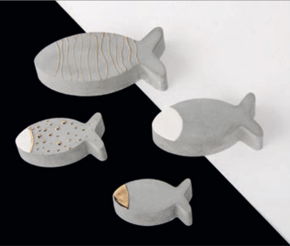 Beton-Fisch Beispiels-Bild Rayher
