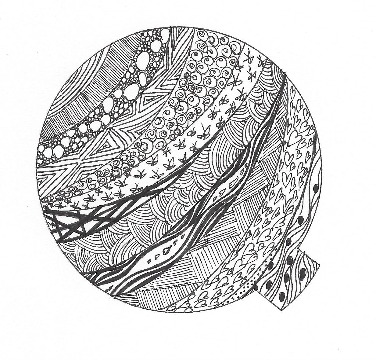 Zentangle Zeichnung