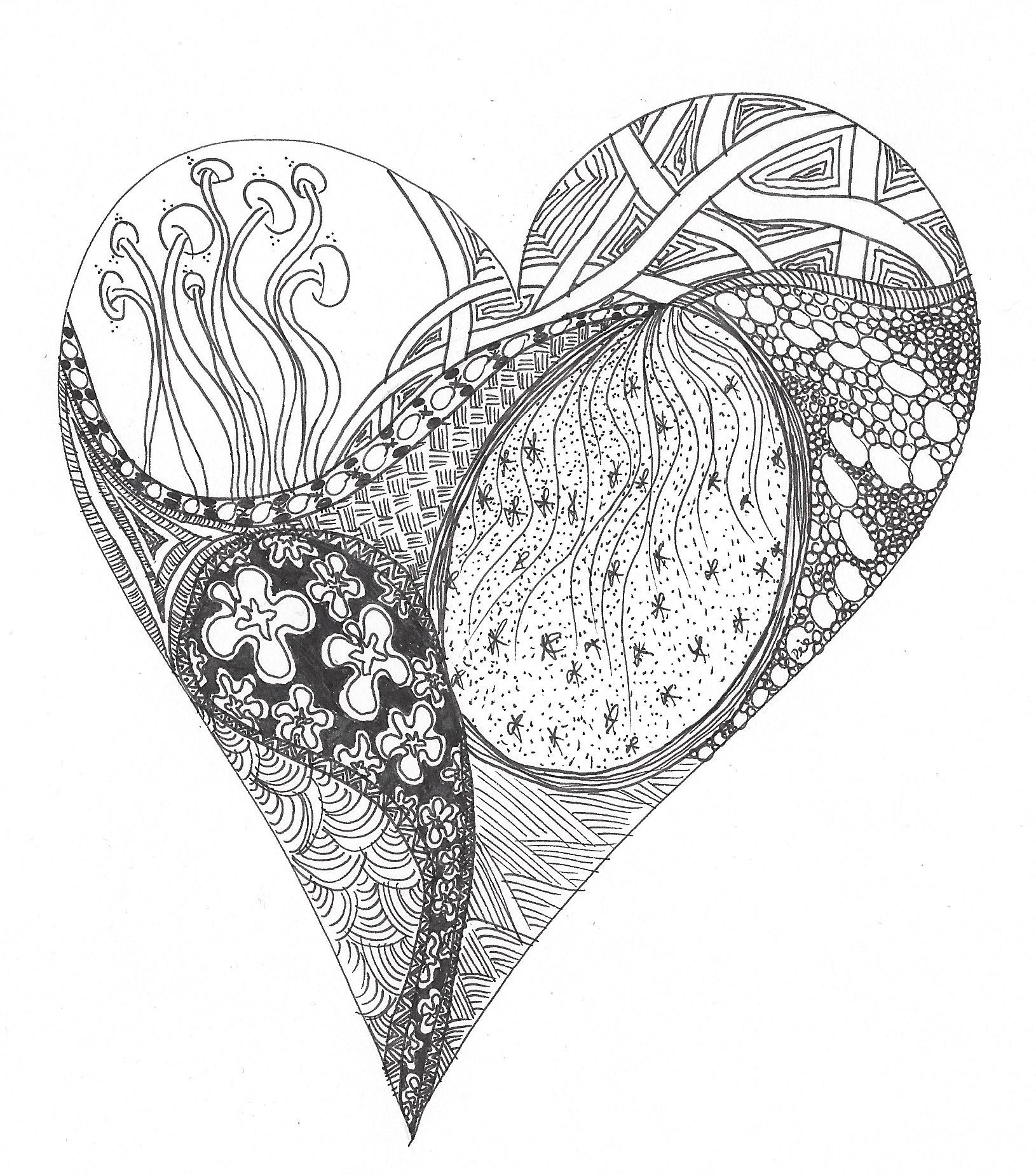 Zentangle-Bild Herz