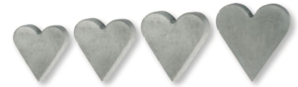 Beton-Herz Beispiels-Bild Rayher